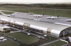 By train, go straight to the Modlin Airport in 2022 at the earliest