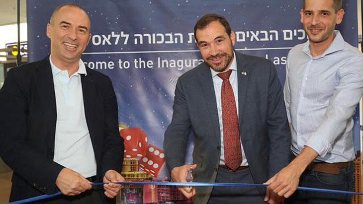 EL AL's inaugural flight from Tel Aviv to Las Vegas