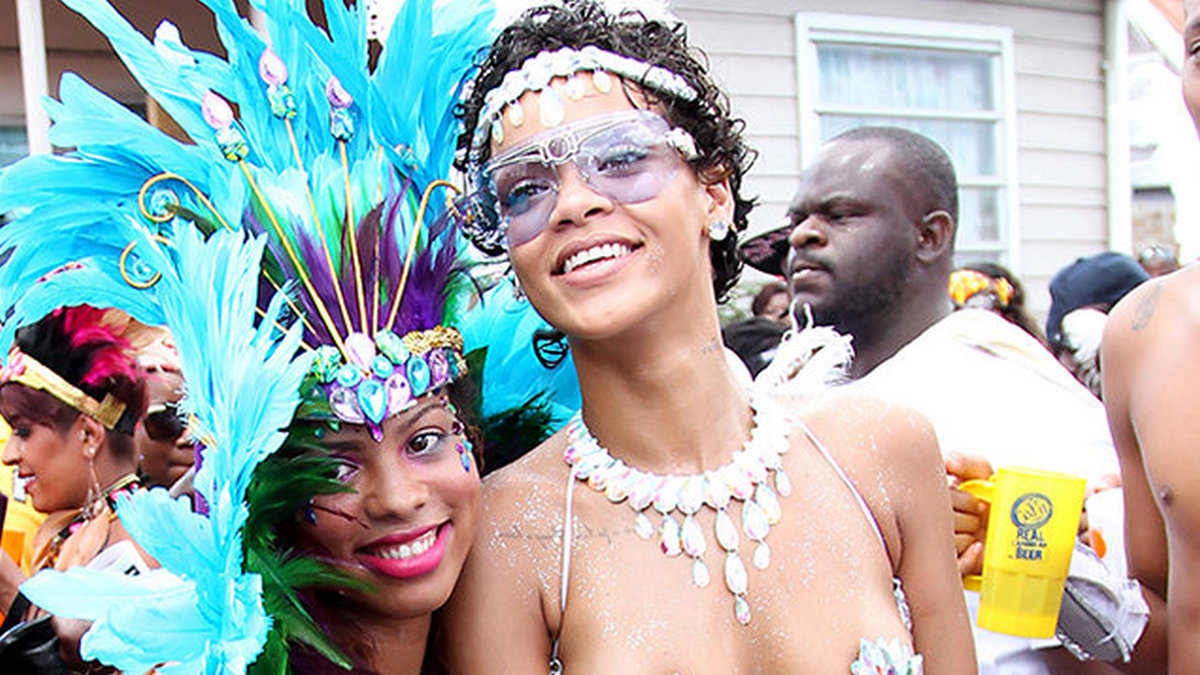 Rihanna at Antigua Carnival
