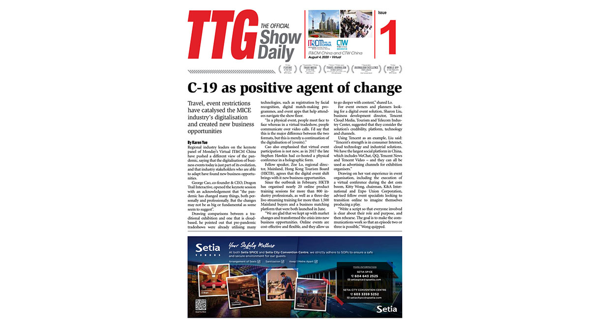 TTG Official Show Daily - IT&CM China and CTW China 2020
